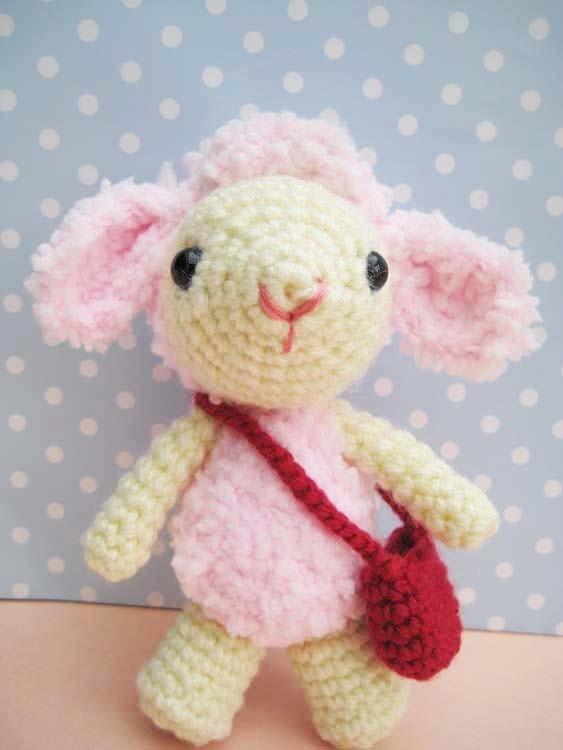 pdf pinky lamb amigurumi crochet pattern-luulla