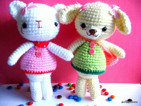 Pdf Emma And Emily Kitten Amigurumi Crochet Pattern Luulla On Luulla