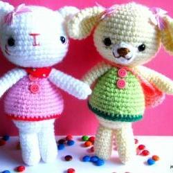 pdf emma and emily kitten amigurumi crochet pattern-luulla